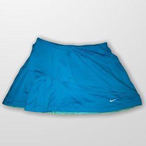 NIKE pleated blue Tennis Golf Skirt Skort SZ S!